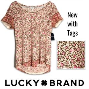NWT 💕 Lucky Brand Floral Blouse size Medium